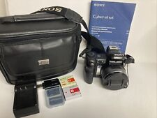 Sony Cyber-shot DSC-H7 8.1MP Digital Camera - Black w/case, memory, batteries +