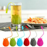 Reusable Owl Tea Infuser Silicone Tea Strainer Adjustable Rope Teapot Filter