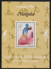 Mongolia 5567 - 1996 OLYMPICS - GYMNASTICS  DELUXE SHEET unmounted mint