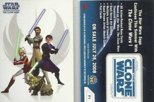 Star Wars Clone Wars   P1 Promo Card BY TOPPS 2008