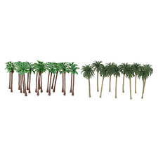 40 Plastic Model Tree Artificial Coconut Palm Trees Rainforest Scenery 1:150