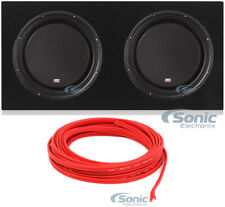 "2) MTX 3512-04S 12"" 1200W Shallow Car Subwoofers+Sealed Sub Box Enclosure"