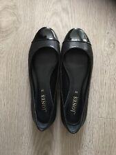 ladies black Jones court shoes size 6