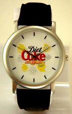 DIET Coke CLASSIC UNISEX BLACK/SILVER WRIST Coca Cola WATCH  WHITE DIAL
