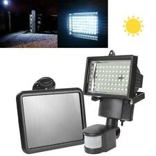 Solar Panel 60 LEDs Bright Flood Light Outdoor Garden Path Wall Security Lamp