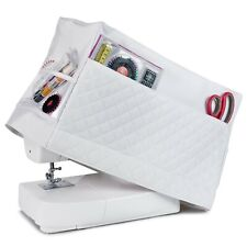Sewing Machine Dust Cover for Most Standard Singer & Brother Machine (White)