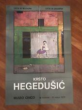 MANIFESTO,POSTER 1973 Krsto Hegedušić CITTA' BOLOGNA ZAGABRIA,MOSTRA PITTURA