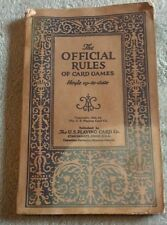 The Official Rules of Card Games - Soft Cover Book - Hoyle Cards 1932 - Vintage