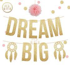 Dream Big Banner, decorazioni per culla, Torta Smash, Primo Compleanno Striscione Banner, Glitter