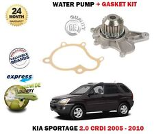 FOR KIA SPORTAGE 2.0 CRDI 1991CC 2005-2010 NEW WATER PUMP + GASKET KIT