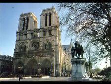 PARIS NOTRE-DAME & MONUMENT EQUESTRE CHARLEMAGNE cliché Albert MONIER