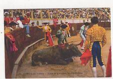 Corrida de Toros Scene du Cachefero Spain Vintage Postcard 461a