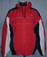 Nike Vintage 90's Full Zip Lined Nike Air Red White Black Hooded Jacket Size XL