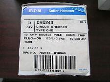 EATON CUTLER HAMMER CHQ240 40 AMP 2 Pole Circuit Breaker PRICE PER BREAKER