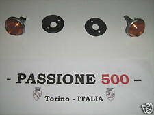 COPPIA FRECCE LUCCIOLE ANTERIORI ARANCIONI FIAT 500