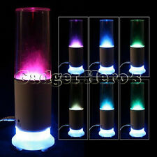Portable LED Color Changing Dancing Water Fountain Spray Speaker USB Chargeable