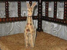 Old Antique Hermann Germany Mohair Giraffe Standing 12 x 24 550/25 CM IDS