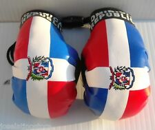 """Dominican Republic Flag Hanging """"Mini"""" Boxing Gloves Ornaments Only!! 3.5 x 2 in"""
