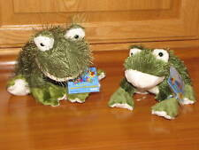 SPECIAL! Webkinz HM001 & Lil Kinz HS001 FROG Plush Set NEW Unused Sealed Codes