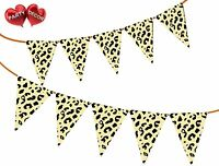 Safari Animal Cheetah Spots Print Themed Bunting Banner 15 flags by PARTY DECOR