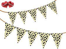 Safari Animal impresión de guepardo puntos temática Banderas Banner Bunting por Decoración de fiesta de 15