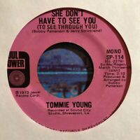 Northern Soul 45 TOMMIE YOUNG She Don't Have To See You SOUL POWER RECORDS Mono