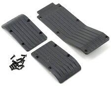 RPM80112  Skid/Wear Plate Black 3pc T-Maxx E-Maxx Traxxas  RPM TRUCK PART