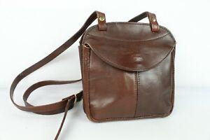 Petit sac bandoulière cuir marron New Line très bon etat