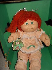 Cabbage Patch Coleco IC Red Single Pony Poodle Green Eyes Blushed Cheeks HTF