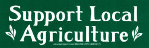 Support Local Agriculture - Small Bumper Sticker / Decal