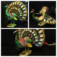 Multi Colours Peacock Decorative Animal Gift Present Showpiece Valentines Homes