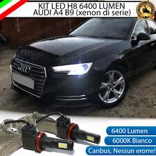 KIT FULL LED AUDI A4 B9 LAMPADE H8 FENDINEBBIA CANBUS 6400 LUMEN 6000K