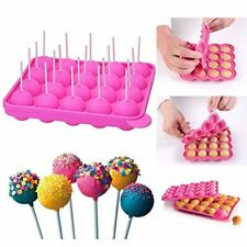 Silicone Baking Tasty Cake Pop Stick Decorate Lollipop Candy Party Mold Tray NEW