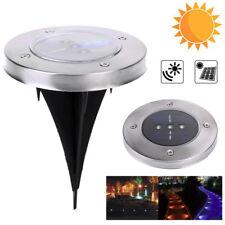 Solar Bodenleuchte Bodenstrahler Wegbeleuchtung Einbaustrahler 3 LED+Lichtsensor