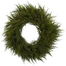 """24"""" Inch Cedar Wreath Home Decor Flower Arrangement"""