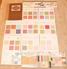 ❤ Papertrey Ink HUGE Patterned Paper Lot Mixed Sizes & Designs Text Style + ❤