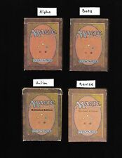 Empty Alpha Beta Unlimited Revised Starter Boxes MTG 1993 1994 decks Magic