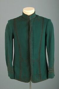 Men's Late 1800s Early 1900s Victorian Era Marching Band Jacket XS Vtg Wool
