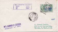 Barbados 1948 Cover 1c adh Trinidadcanc. Posted on Board  cacht {below}