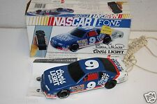 WOW Vintage Bill Elliot NASCAR Race Car Shaped Working Phone Telephone w/ Box #9