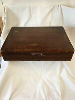 "NAKEN'S Tarnish Proof Silverware Chest ,Wooden Box Only.16""x11 1/2""x3 1/4""H Used"
