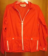 WHITE STAG red windbreaker 4 Seasons med zipper nylon jacket 1980s ski Portland