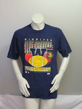 Winnipeg Blue Bombers Shirt (VTG) - Large W and Football Graphic - Men's XL