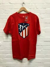 Atletico Madrid CF Men's Club Class Crest T-Shirt - Various Sizes - Red - New