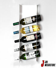 Wine Rack 6 Bottles Wall Mountable Closed Sided Modern Contemporary Storage Unit