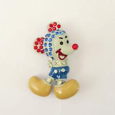 New Beige Cartoon Disney Mickey Mouse Shape Pendant Charm Brooch Pin Gift Br1341