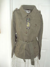 Button Cotton Military Coats & Jackets for Women