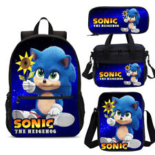 Galaxy Baby Sonic The Hedgehog Kids School Backpack Sling Lunch Bag Pen Case Lot