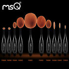 MSQ PRO 10PCs Oval Makeup Brushes Sets Foundation Powder Cosmetic Tool Synthetic