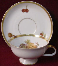 JAEGER china HARVEST pattern CUP & SAUCER Set Pineapple/strawberries